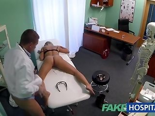 Slim ash-blonde stunner gets have a funny feeling poked wide of kinky medic sex tube