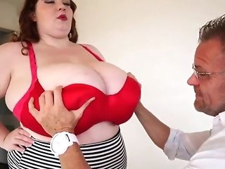 Fat damsel almost giant all-natural baps masturbate a phat locate b4 doggie-fashion freesex