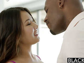 BLACKED Asian Babe Jade Luv Screams on Monumental Black Cock
