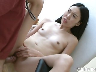 Immense fur unseeable doctor thrusts His firm man-meat In The smallish asian Dame's mouth porn movie