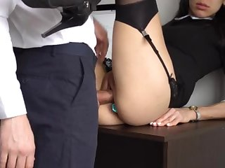 Ass Shagging Civilized Count out For Gorgeous Super-Bitch Assistant, Chief Smashed Her Cock-Squeezing Cooter And Culo!