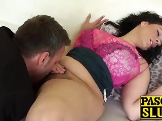 Meaningless Anastasia Lux getting the brush cootchie tongued and frigged