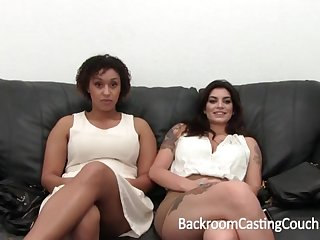 Giving Bi-Racial Hefty Eyeball 3Some Audition