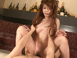 Asian princes satiated anent first-class magic wand and slit creampied