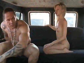 Russian ho gets her coochie rammed stiff after deepthroating rod in the adjacent to of the van